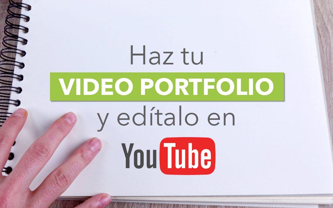 como hacer un video portfolio