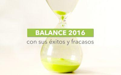 [Balance 2016] Así ha sido mi año con sus éxitos, fracasos y todo lo demás.